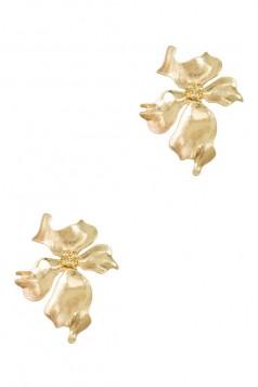 Flower Casting Stud Earring