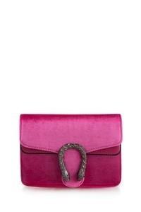 Velvet Tiger Buckle Handbag
