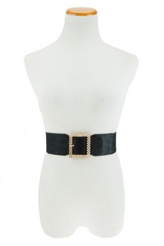 Square Ridged Buckle Elastic Belt- MORE COLORS!