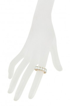 Baguette Stone Stretch Ring Size 8
