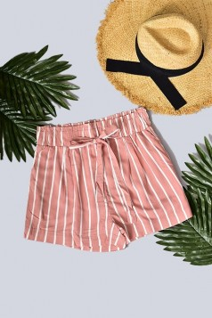 Paperbag Belted Stripe Shorts (MORE COLORS)
