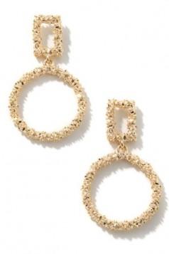 Metallic Hoop drop earrings
