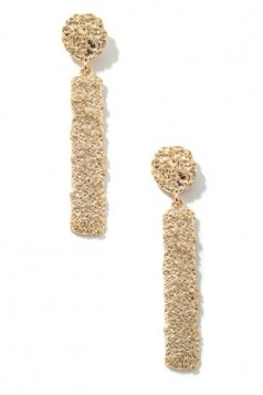 Metallic Bar Drop Earrings