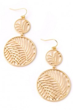 Tropical Leaf Tiered Earrings