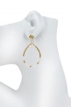 Beads Teardrop Dangle Stud Earring