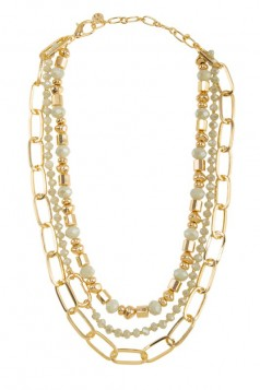Beads Linked Chain Layered Necklace
