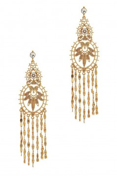 DESIGNER INSPIRED MULTI CHAIN DROP EARRING
