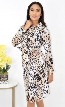 Leopard Front Tie Dress Restocked!