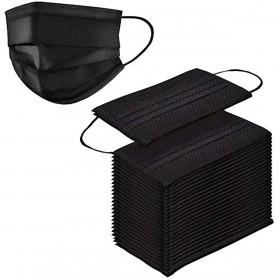 Black Disposable Face Masks - 10 PACK