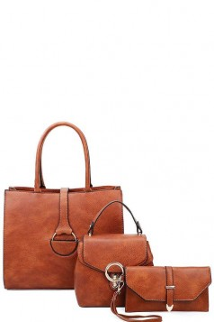 3in1 Designer Tote Set With Long Strap- More Colors!