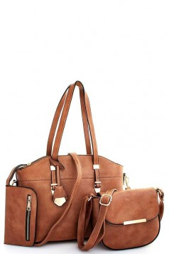 3IN1 Fashion Chic Satchel Crossbody Set