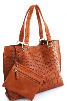 2IN1 Street Level Laser Cut Stylish Tote Bag