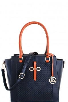 3in1 Fashion Chic Satchel with Long Strap BLUE