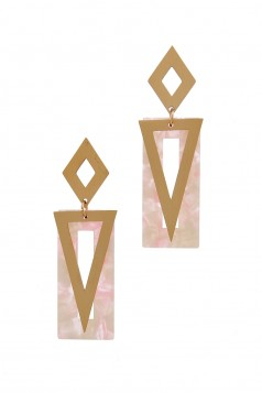 MARBLE EARRINGS- PINK