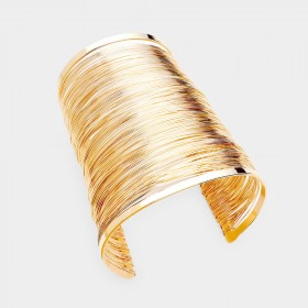 SPLIT LAYERED HOLLOW CUFF BRACELET