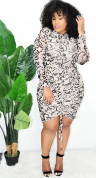PLUS SIZE RUCHED DRESS