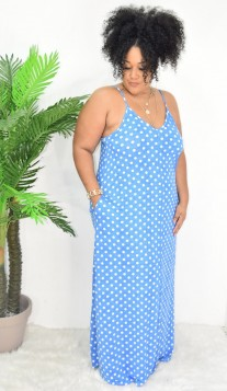 DOTTED GIRL MAXI DRESS PLUS