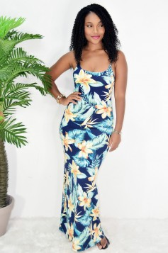 NIGHT TO REMEMBER FLORAL MAXI DRESS