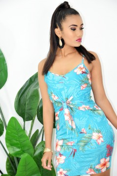 MALIBU TIE FRONT BODYCON DRESS