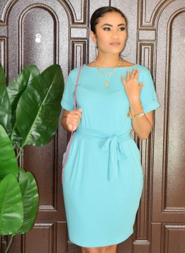 ERRAND RUN TIE WAIST DRESS