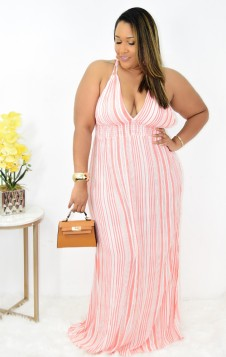 ALL ABOUT THE STRIPES MAXI DRESS +