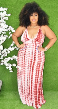 STRAPPY PLUS SIZE TIE DYE MAXI DRESS