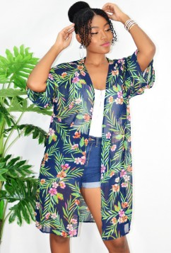EASY DOES IT FLORAL CARDIGAN