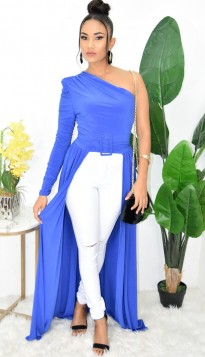 WOW FACTOR ONE SHOULDER MAXI TOP