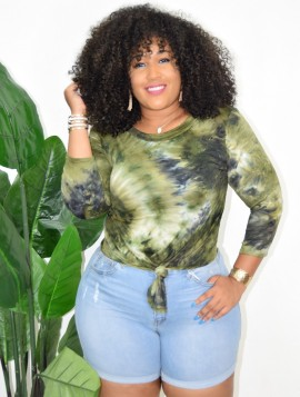 PLUS SIZE TIE FRONT TEE MORE COLORS!