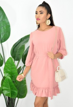 SUNDAY BRUNCH RUFFLED DRESS