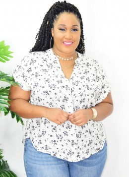 EASY DOES IT FLORAL BLOUSE
