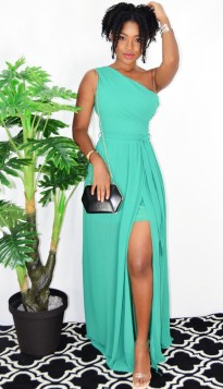 LOVEBIRD ONE SHOULDER MAXI DRESS