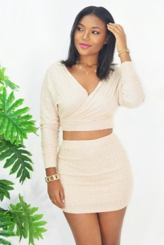 WRAPPED UP RIBBED 2 PIECE SET