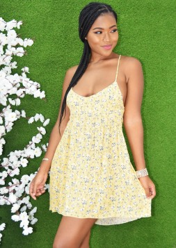 HELLO SUNSHINE FLORAL DRESS