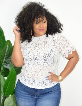 PLUS SIZE LACE TOP MORE COLORS