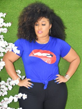 LUSCIOUS LIPS PLUS SIZE TOP