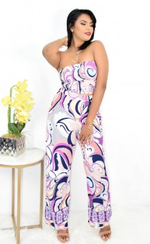 ABSTRACT PRINT TWO PIECE SET