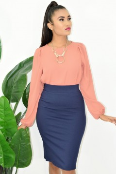 WORKING LADY PUFF SLEEVE TOP!