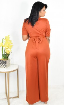 RING ACCENT WIDE LEG JUMPSUIT