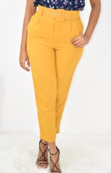 HIGH WAIST BELTED TROUSERS MORE COLORS!