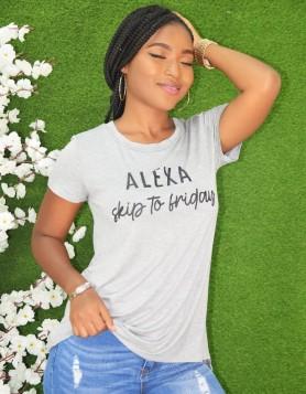 ALEXA SKIP TO FRIDAY OVERSIZED TEE-SHIRT