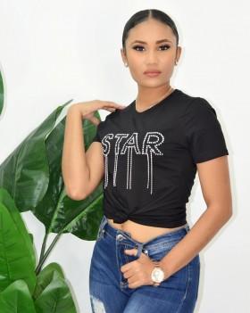 STAR RHINESTONE TEE