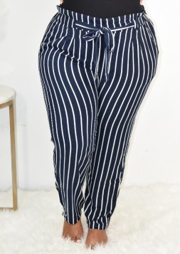 STRIPED PAPERBAG PANTS MORE COLORS!!!+++