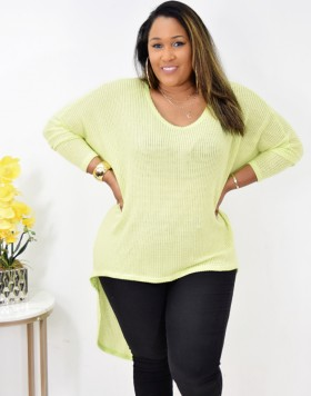 CLAIRE KNIT HIGH LOW TOP + MORE COLORS!