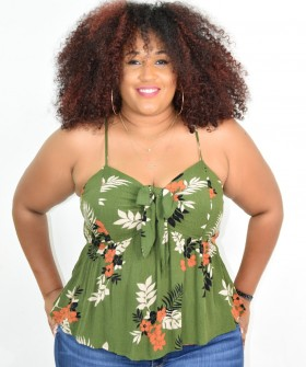 PLUS SIZE FLORAL SMOCKED TOP M0RE COLORS+