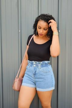 Denim Paperbag Shorts- More Colors