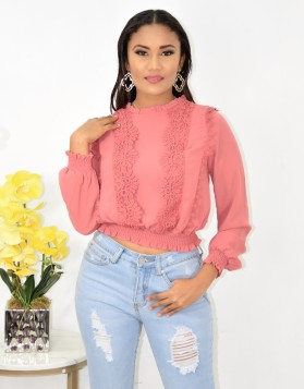 DAY DREAMS CROCHET BLOUSE