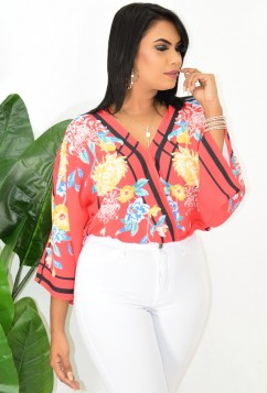 FLOWING FLORALS DOLMAN TOP