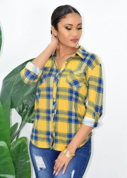 SHOPPING DAY PLAID SHIRT
