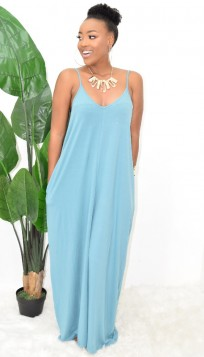 Marine Boho Maxi Dress- More Colors!